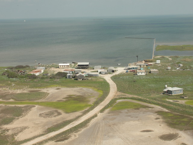 small community on peninsula