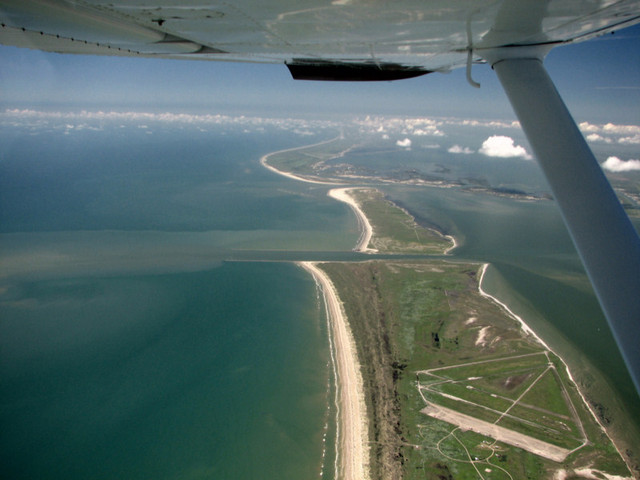 Fly over Matagorda Peninsula Airfield